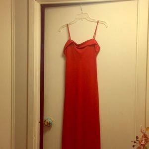 Long red dress size 5